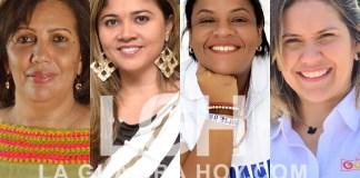 Algunas de las candidatas a la Asamblea de La Guajira.