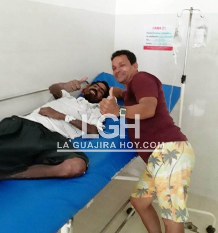 Se recupera en el hospital de San Juan del Cesar Jonny Camacho de 36 años de edad.