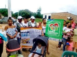 Aspecto de la jornada pedagógica sobre la importancia del agua y residuos que se realizó en San Juan del Cesar.
