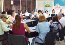 Aspecto de la reunión se realizó en la mañana de este viernes, en donde se acordó reanudar las jornadas académicas a partir de este sábado.