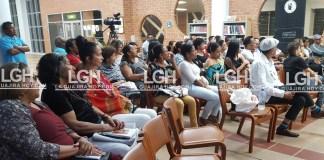 Aspecto del público presente en la noche del jueves en Riohacha.