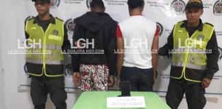 Jaminto Ricar Nieves Fernández, uno de los jóvenes detenidos, señalados por varias personas de haberle robado el celular.