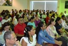 Aspecto de la socialización que se realizó en la mañana de este martes en Corpoguajira. Luego se organizarían las mesas de trabajo.