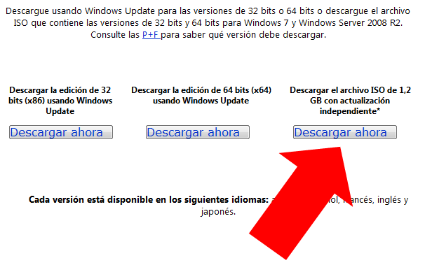 Servipack Windows 7