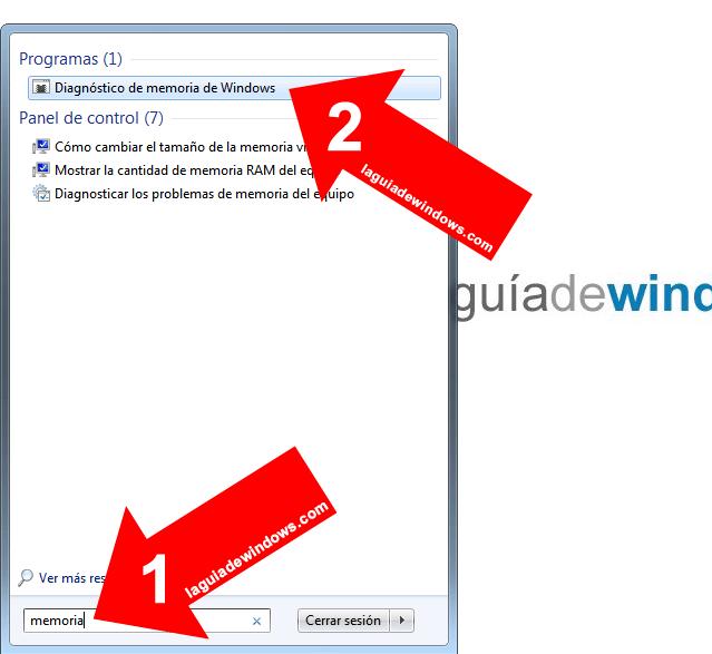 Testear RAM en Windows 7