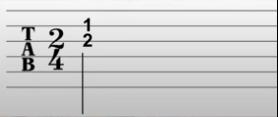Dos números a la vez en las tablaturas