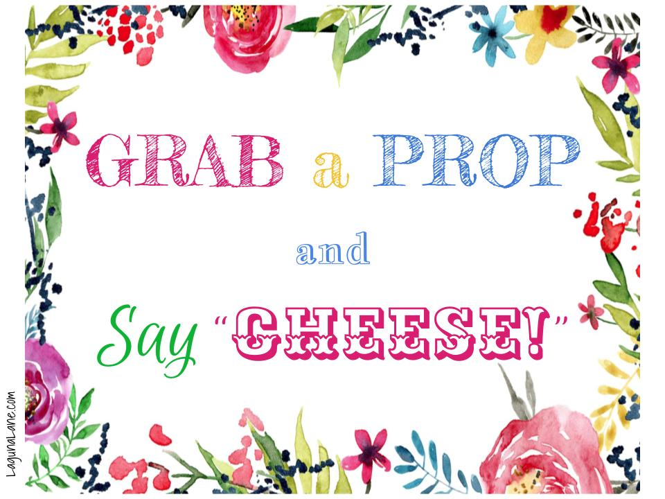 image regarding Free Printable Photo Props identified as Photograph Booth Wall Free of charge Printables! - Laguna Lane