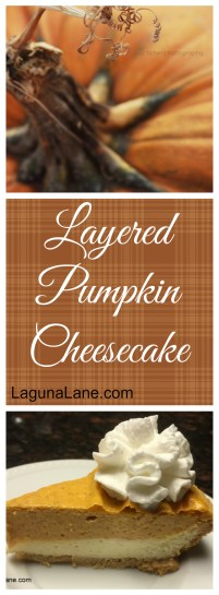 Layered Pumpkin Cheesecake | Laguna Lane