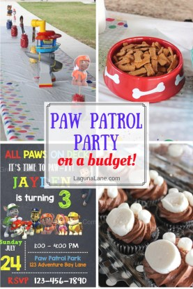 Paw Patrol Party on a Budget - Cheap & Easy DIY Ideas | Laguna Lane