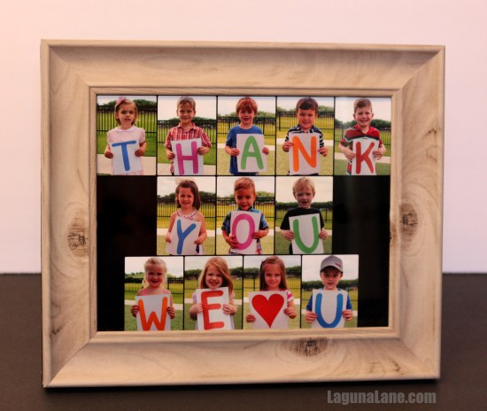 Class Photo Collage Teacher Gift | Laguna Lane