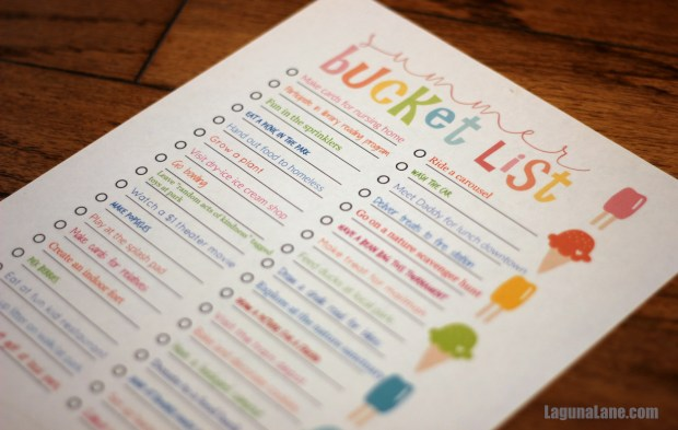 Summer Bucket List Printable | Laguna Lane