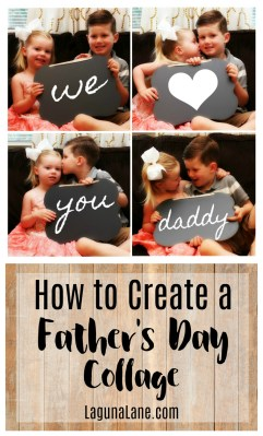 Father's Day Photo Collage Gift | Laguna Lane