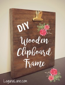 DIY Wood Photo Clipboard - with text | Laguna Lane