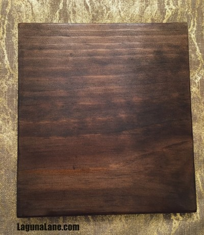 DIY Wood Photo Clipboard - After Stain | Laguna Lane