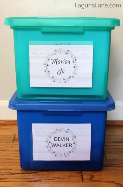 Keepsake Bins for Easy Storage | Laguna Lane