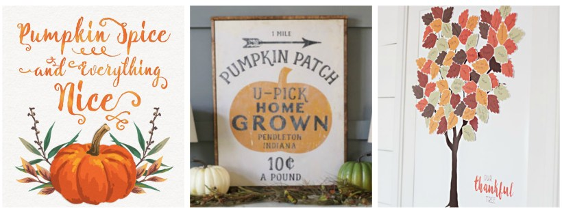 Free Fall Printables - Easy Decorating! | Laguna Lane