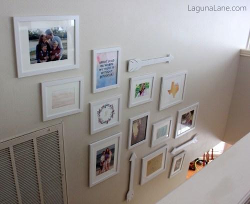 Budget Gallery Wall - Stairway   Laguna Lane