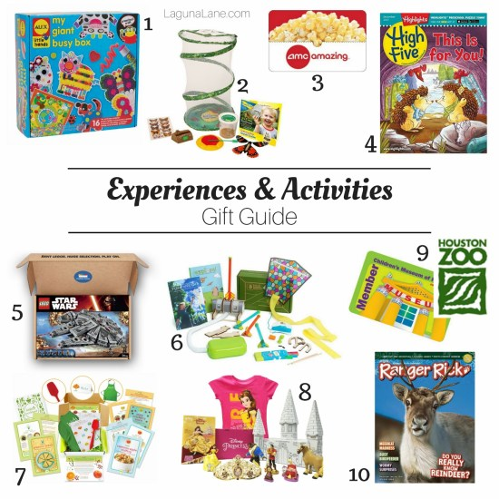 Experiences Gift Guide - Gift an Activity - Non-Toy Gifts | Laguna Lane