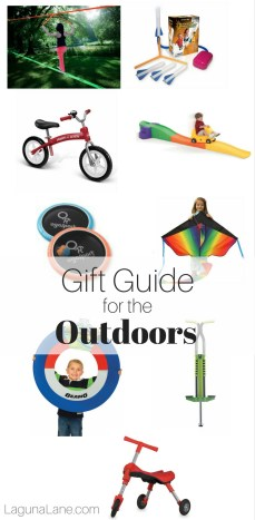 Gift Guide for the Outdoors - Toys, Games, and Skills for Outside! | Laguna Lane