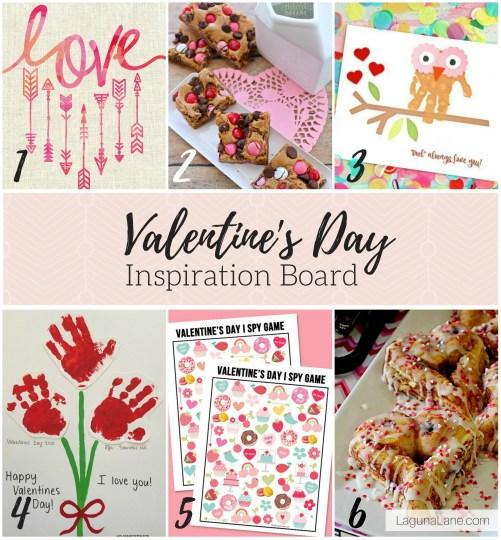 DIY Valentine's Day - Valentine's Day Inspiration Board - Crafts, Snacks, Games, and Free Printables | Laguna Lane