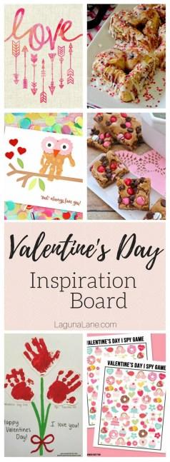Valentine's Day Inspiration Board - Crafts, Snacks, Games, and Free Printables   Laguna Lane