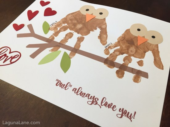 Owl Always Love You Handprint Craft - Cute for Valentine's Day or any other occassion! | Laguna Lane