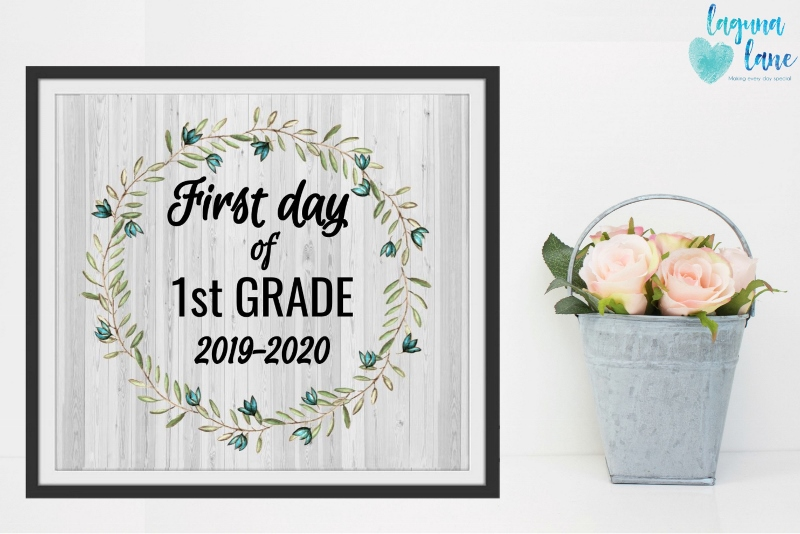 graphic about Free Printable First Day of Kindergarten Sign titled Farmhouse Very first Working day of College Indications 2019-2020 Absolutely free