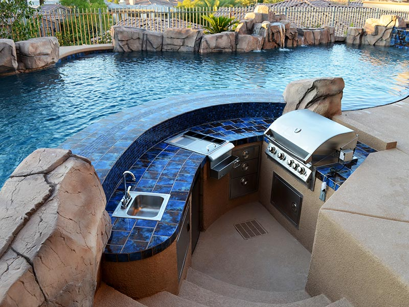 Outdoor Kitchens Las Vegas Pool Construction Company