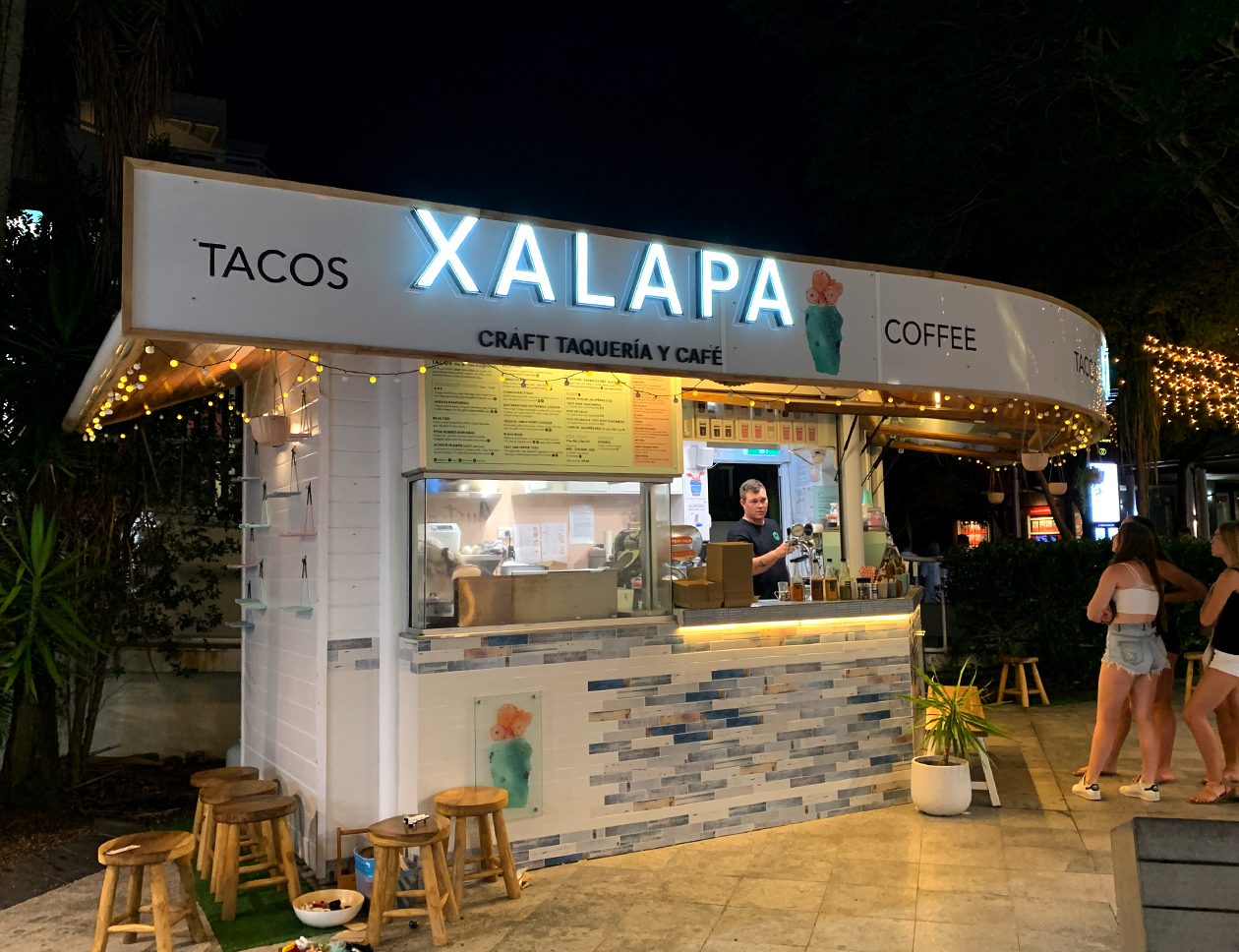 Xalapa illuminated front sign
