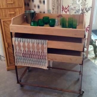 mueble bar reciclado cajones antiguos carrito