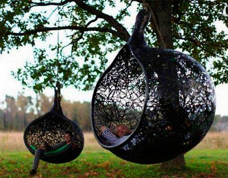 Hanging chair: sillas que flotan en el aire (4/6)
