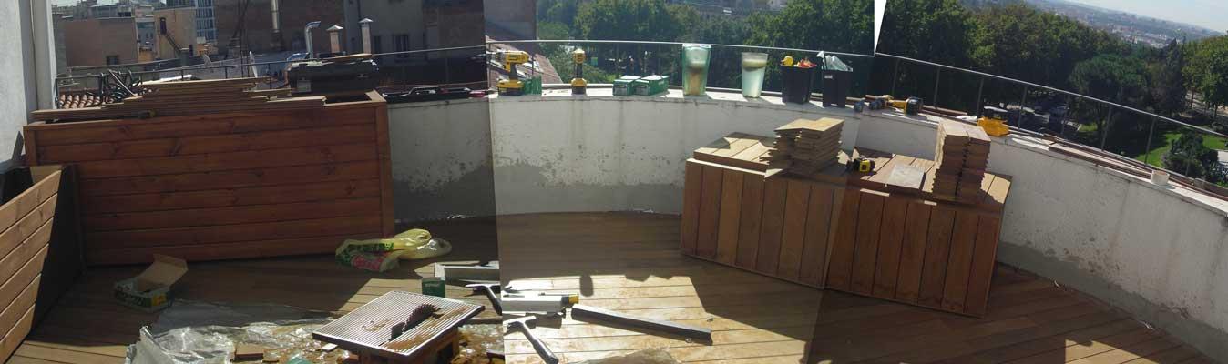 Los trabajos de jardiner a en terrazas la habitaci n verde - Nebulizador casero para terraza ...