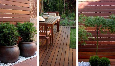 jardin de diseño con ampliacion de porche