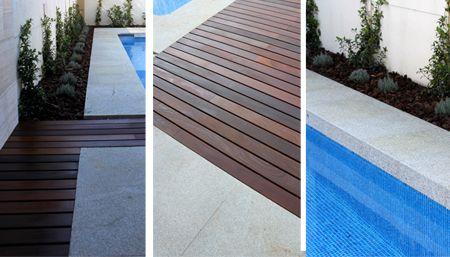jardin de diseño con piscina en madrid