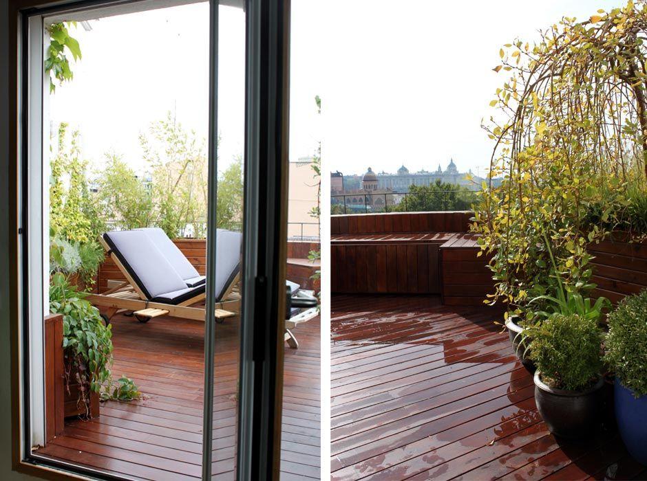 jardin en terraza pequeña