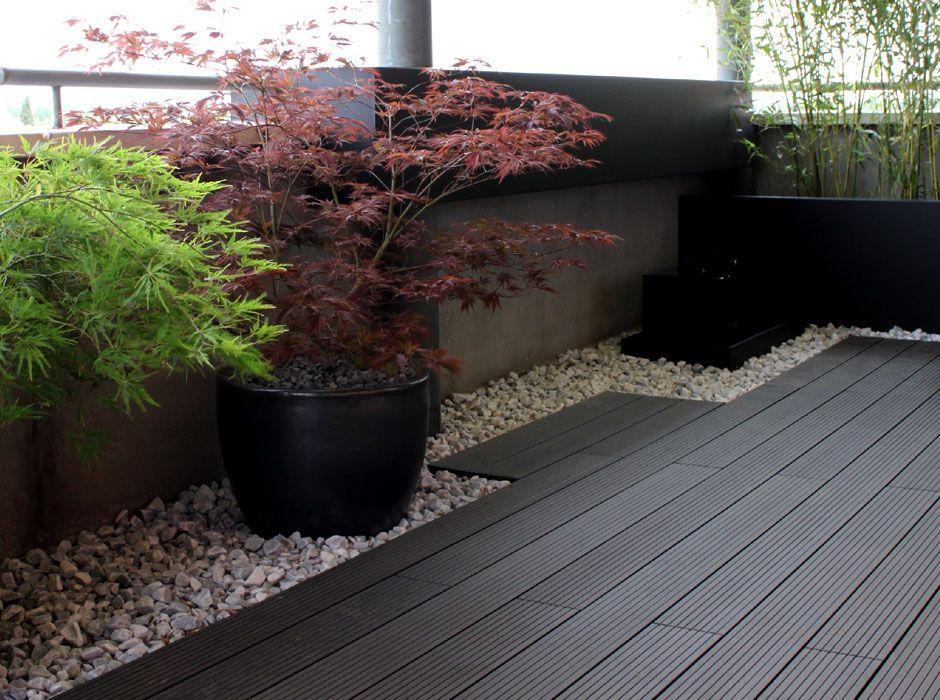 terraza jardin minimalista