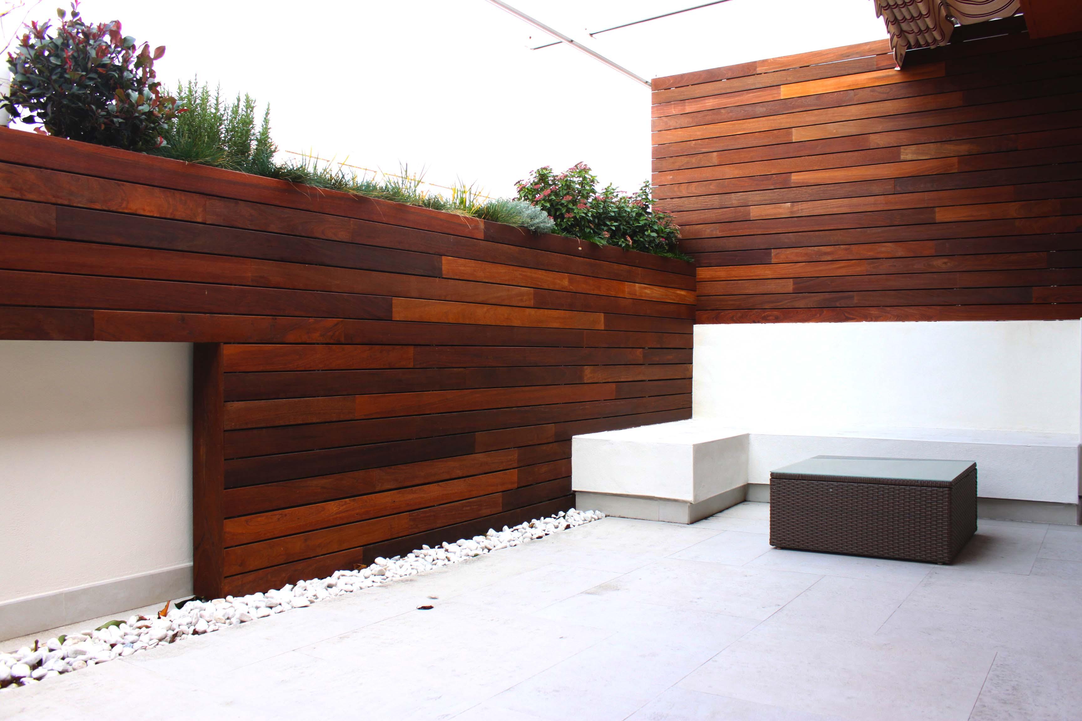 Terraza En Madrid Con Aires Mediterr Neos La Habitaci N Verde ~ Jardineras De Obra Para Terraza