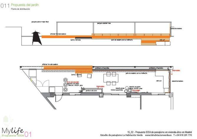 Plano del diseño terraza