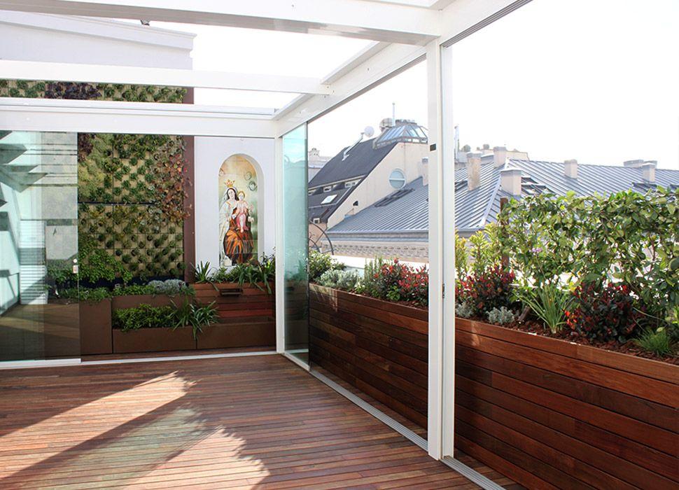 La habitaci n verde terraza p rgola bioclim tica - Pergola terraza atico ...