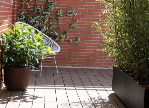 Jardín en terraza en Madrid