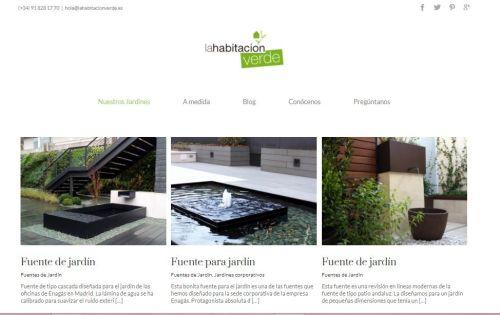 Fuente para jardín en la web