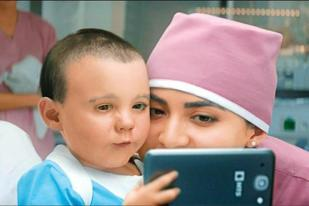 sneak peak from the MTS ad, where the baby takes a selfie with the nurse