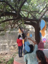 Hanging their garland of prayers