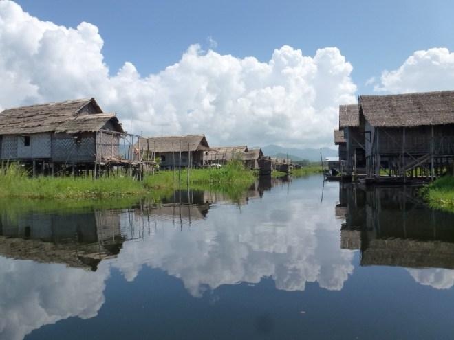 Village flottant de Nampan sur le lac Inle