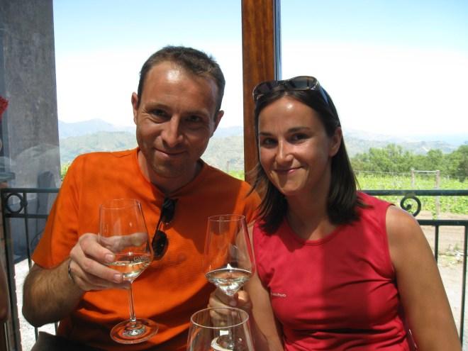 Dégustation de vin, Etna - Sicile