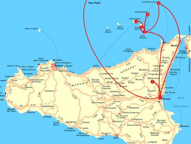 Itinéraire Sicile