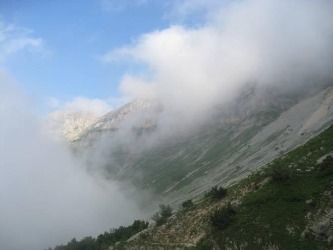 Balcon Est sous la brume