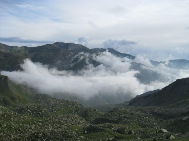 Brume vers le lac Chiaretto - Viso