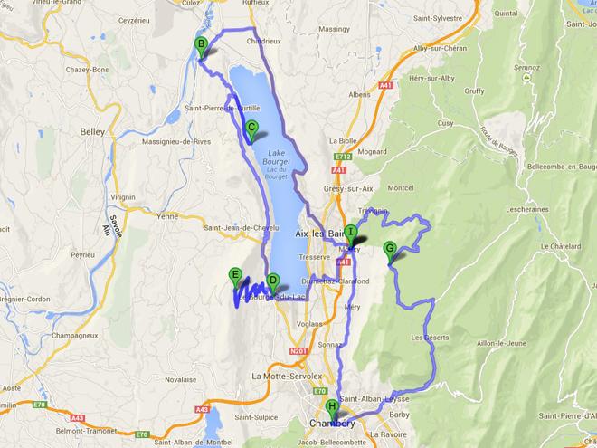 Itinéraire lac Bourget