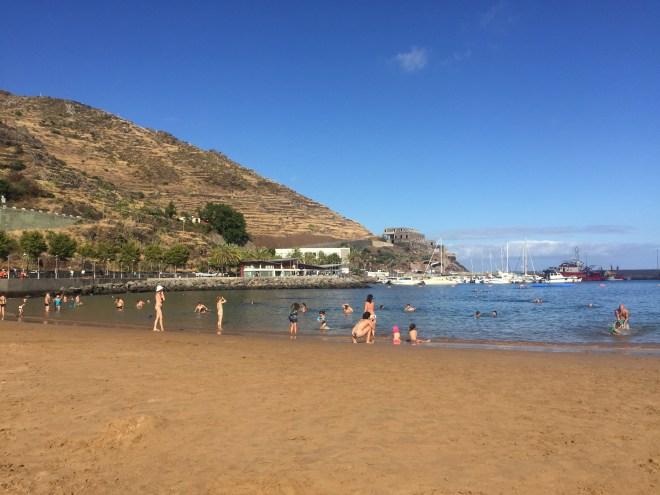 plage machico madère